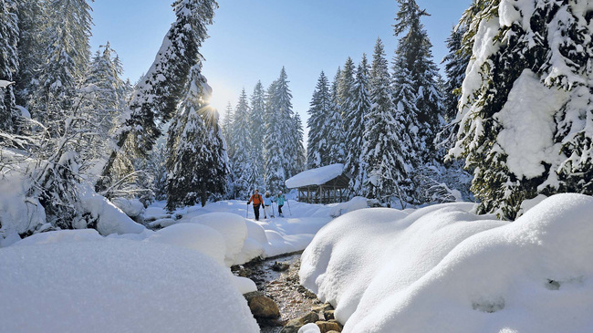 Wallis: Schneeschuhwandern im Kanton Wallis